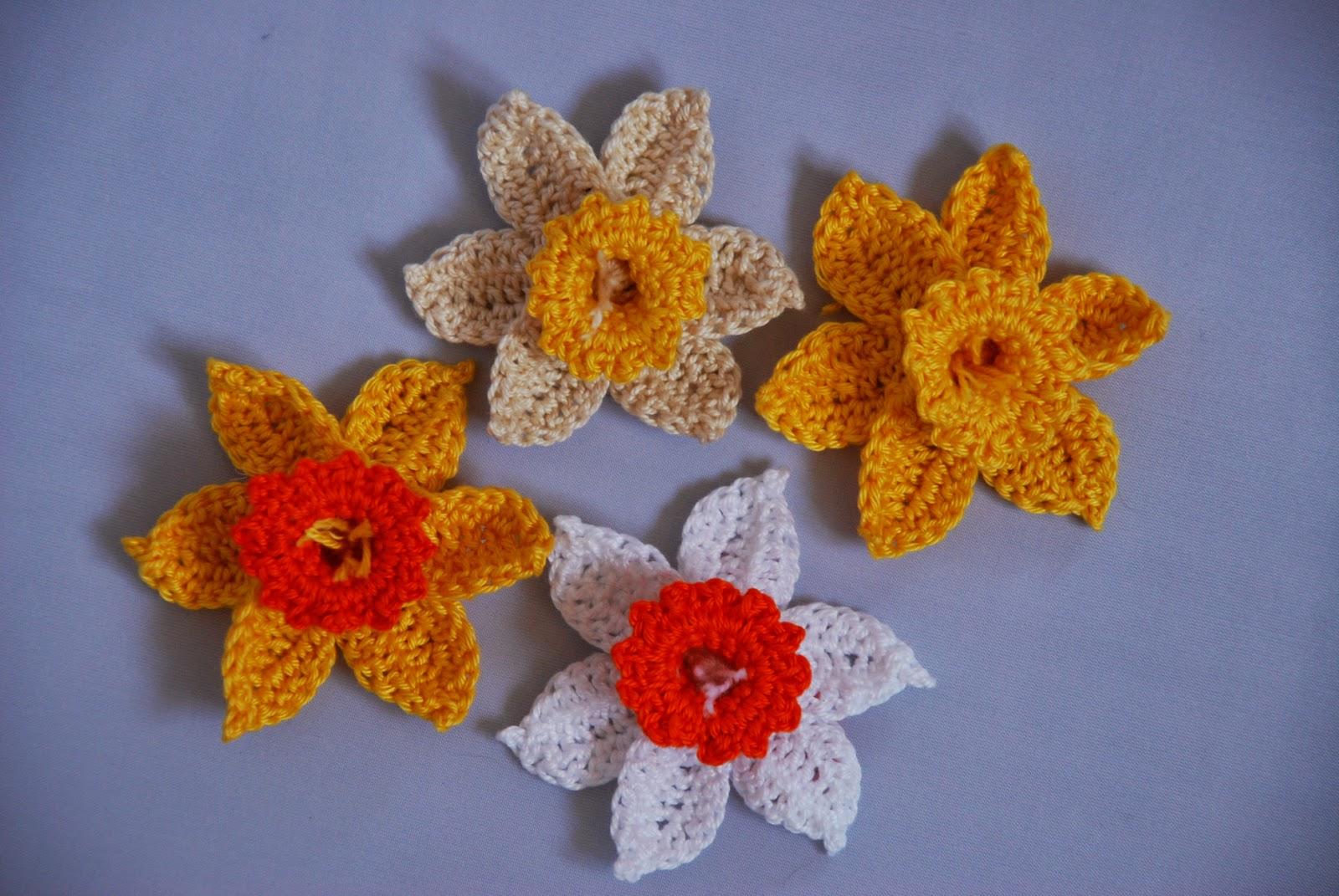Free Pattern Crochet Daffodil : Amjaylou: Crochet Daffodil