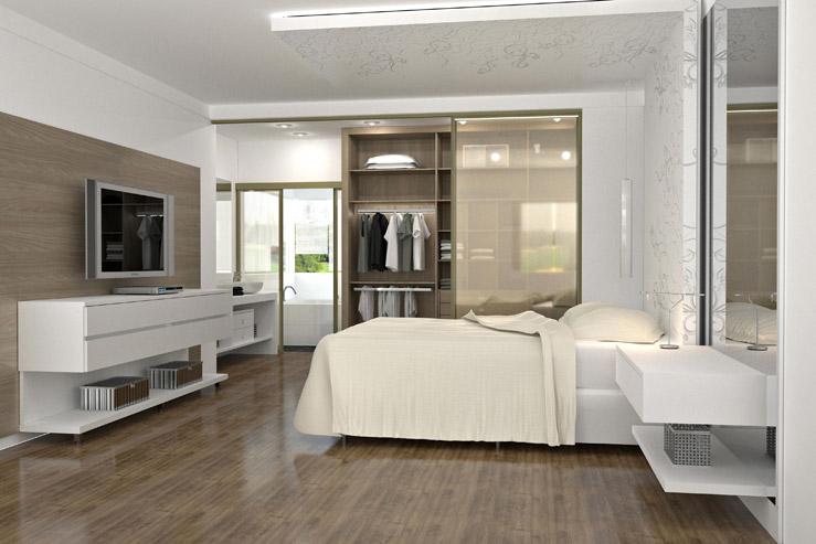 Construindo minha casa clean 20 quartos com closet veja for Dormitorio para quarto pequeno