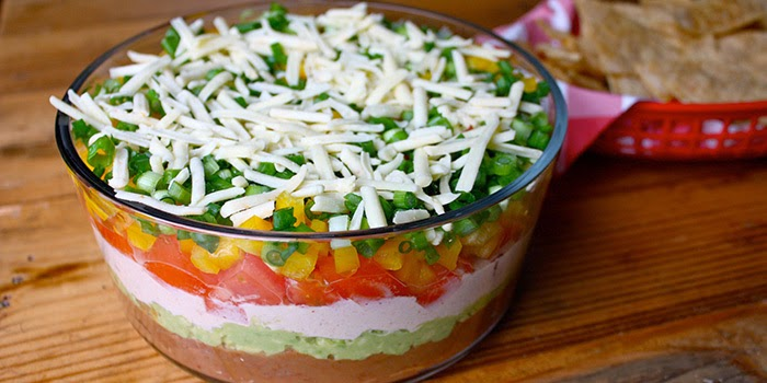 Superbowl Appetizers, Party Food Recipes, Healthy Dips, 7 Layer Dip