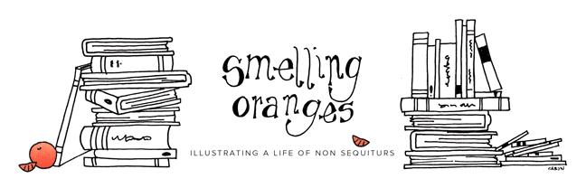 smelling oranges