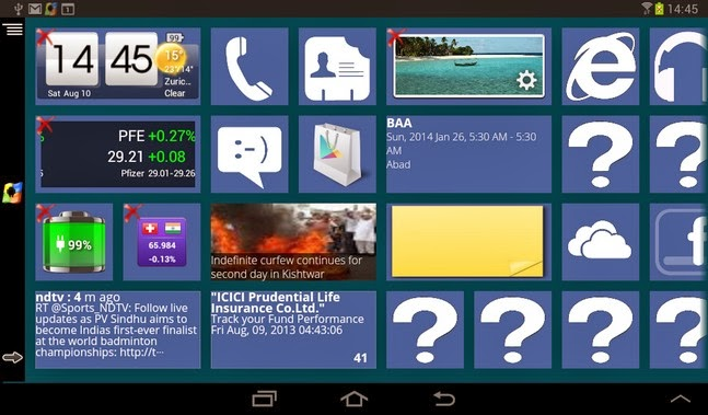 Windows8 / Windows 8 +Launcher android apk - Screenshoot