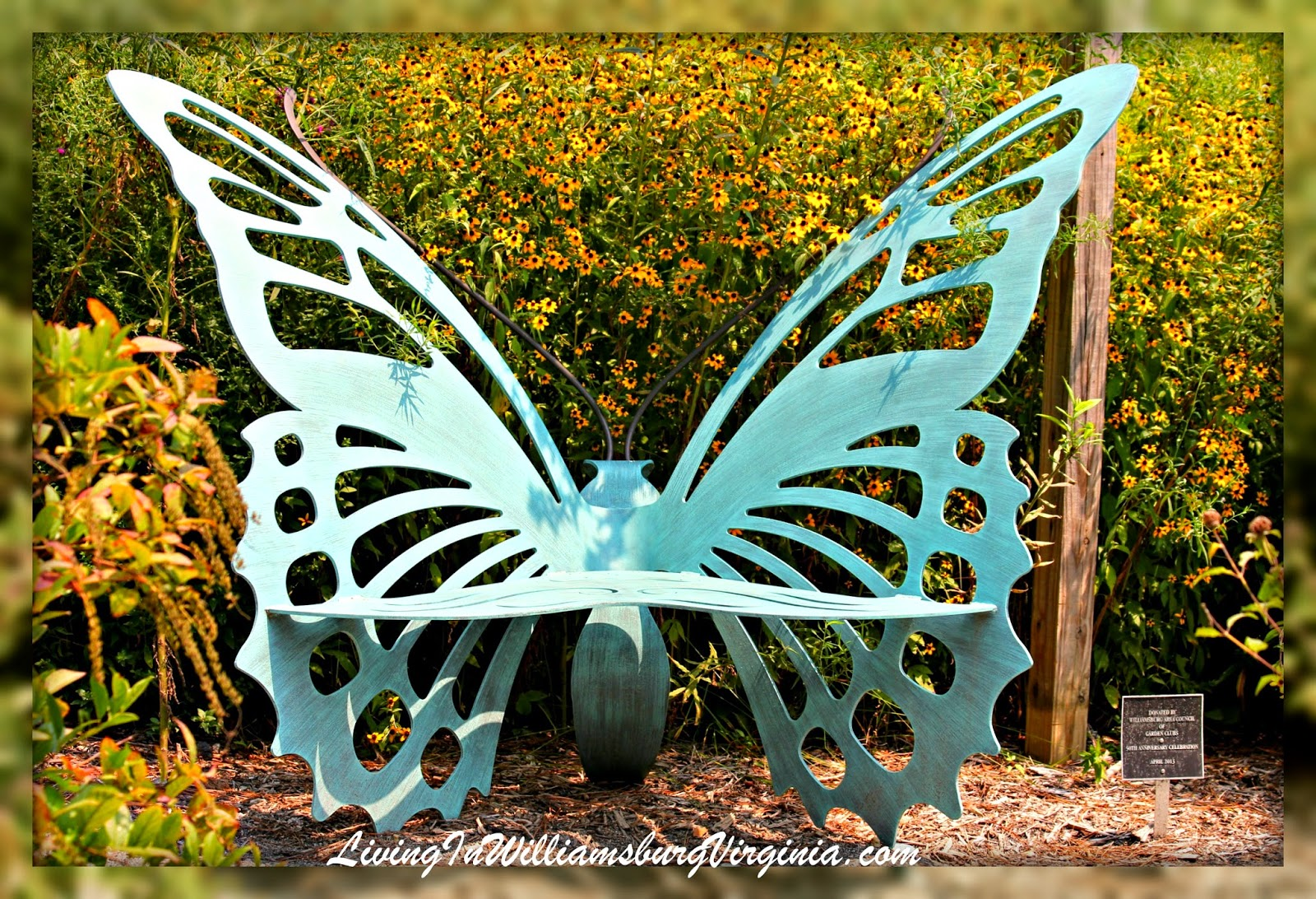 A Butterfly Bench Nestled In The Butterfly Garden Of The Williamsburg  Botanical Gardens Seems Quite Appropriate. This Section Of The Garden  Includes Plants ...