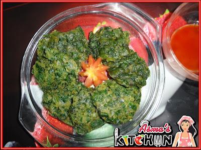 Healthy spinach dumpling