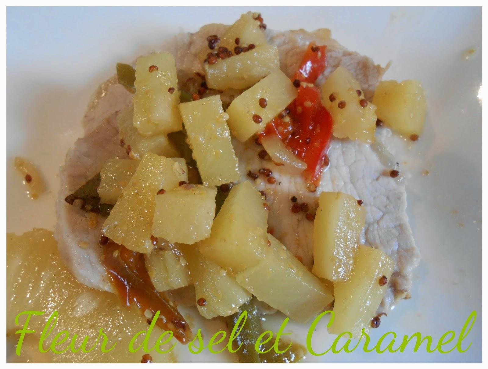 Rôti porc à l'ananas et la moutarde ancienne