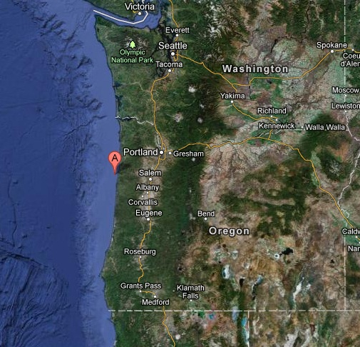 OFFSHORE OREGON USA earthquake 2012 November 08