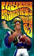 Rob Gronkowski (New England Patriots) vestido de Jimi Hendrix.