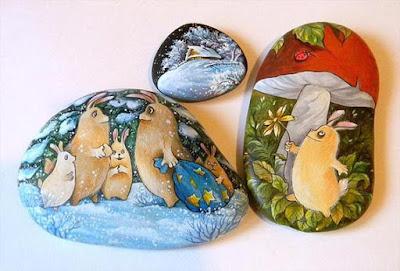 рисуване върху камъчета