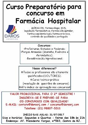 Curso Preparatório para Concurso em Farmácia Hospitalar