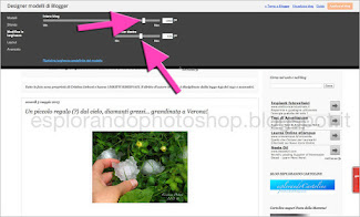 Come modificare le larghezze del blog di blogger.