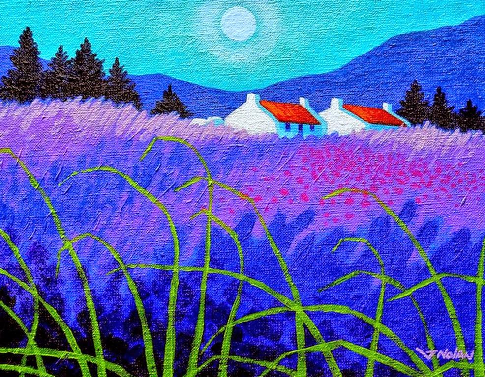 pinturas-paisajes-modernos-con-flores