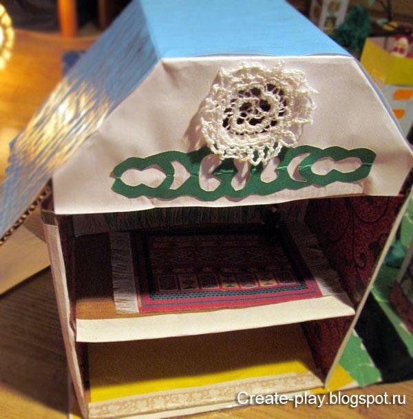 Домик из картонной коробки