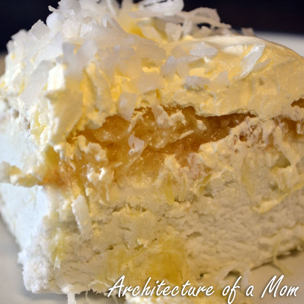 Architecture of a Mom: Pina Colada Cake