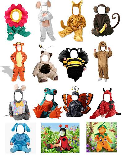30 Disfraces infantiles para hacer tus Fotomontajes
