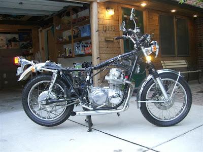 honda motorcycle tear down, frame, cb500