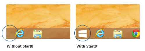 "Cara mendapatkan kembali ""Start"" Tombol di Windows 8?"
