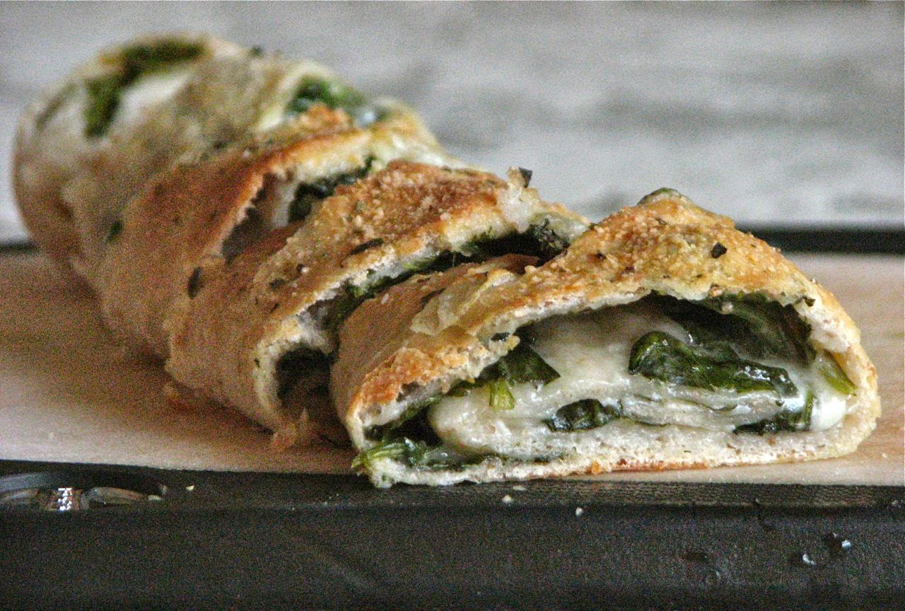 Spinach And Salami Stromboli Recipe — Dishmaps