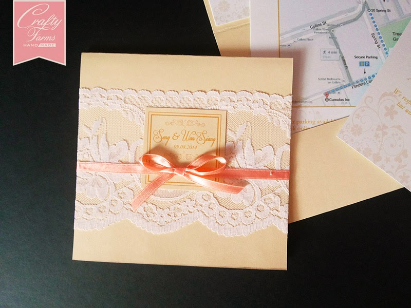 Wedding Card Malaysia | Crafty Farms Handmade : Classic Cream and ...