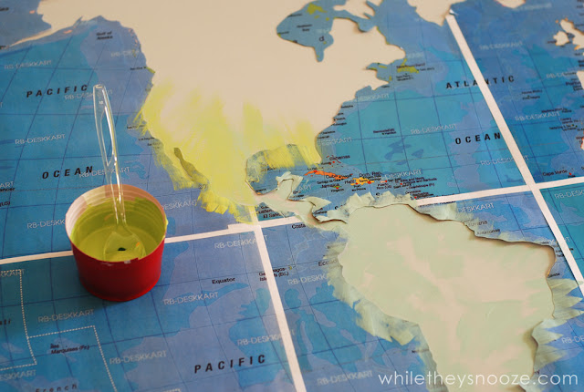 While they snooze diy map table tutorial for Ar 11 6 table 6 2