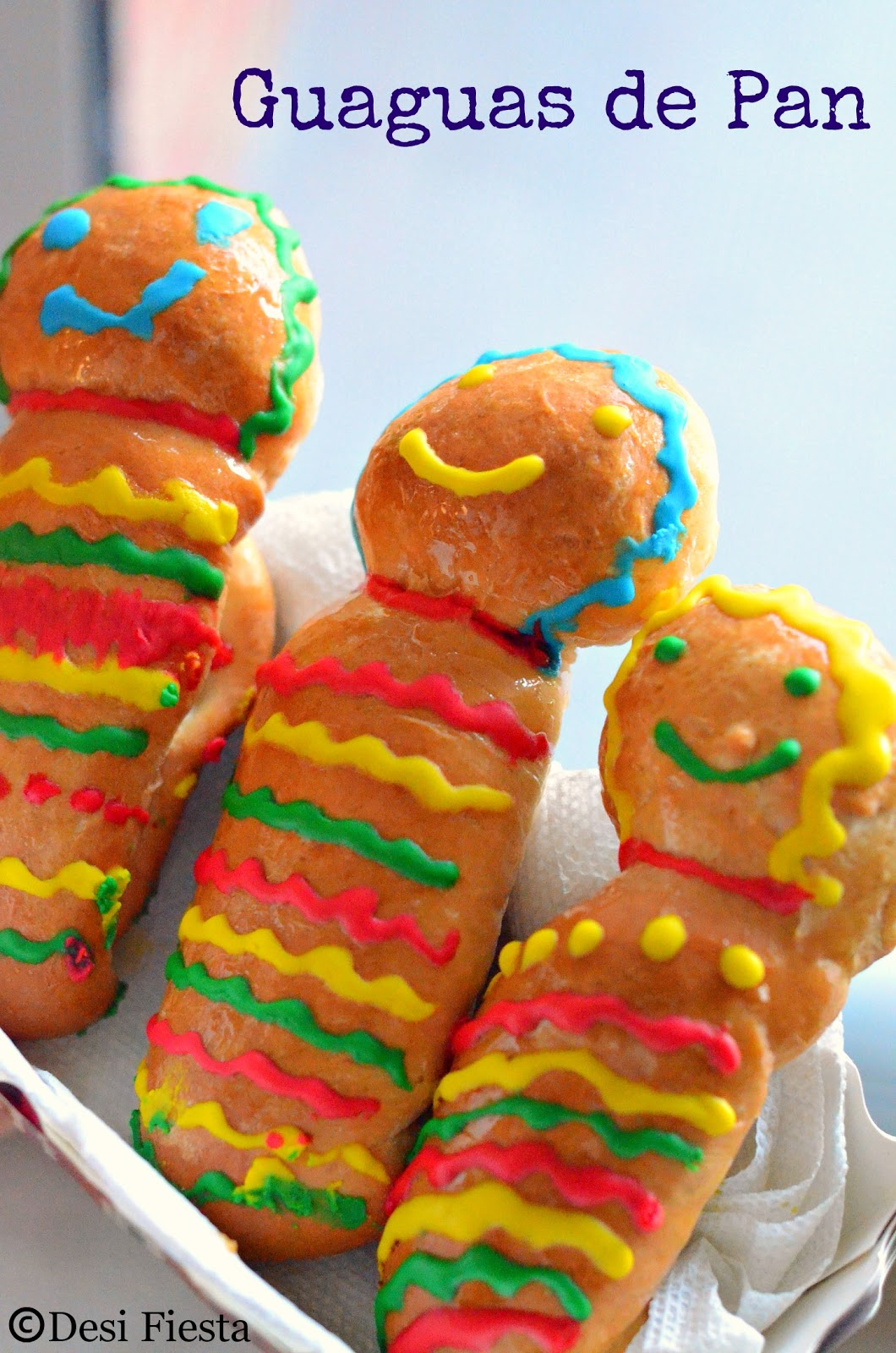 Decorated Ecuadorean sweet  bread babies