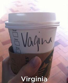 Barista starbucks salah tulis nama.