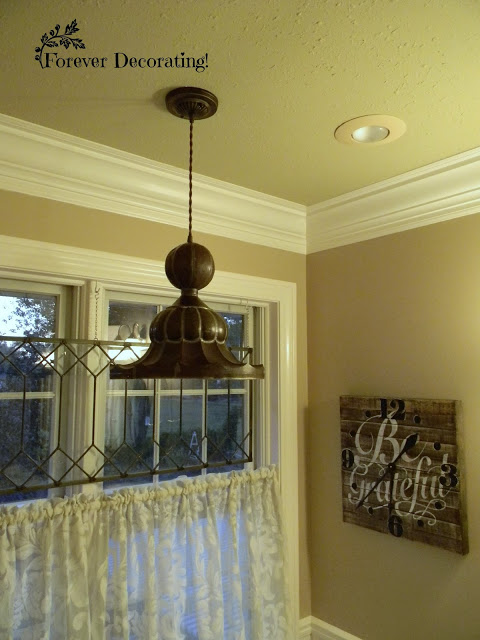 Turret cap becomes a pendant light