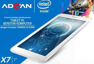 Review Advan Vandroid X7 Beserta Harga, Tablet Satu Jutaan Dengan Prosessor Canggih