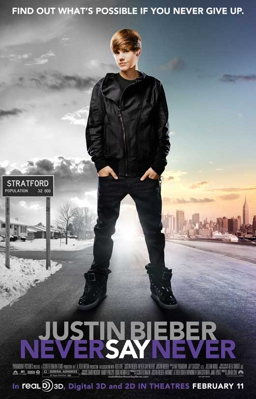 justin bieber never say never movie cover. justin bieber cut out fye.