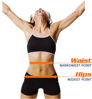 Measure your hips. Your hips will be the fullest part of your body just before it narrows to your legs, or at least 7 inches below your natural waistline. As you measured your natural waist, wrap the tape measure around the circumference of your hips.