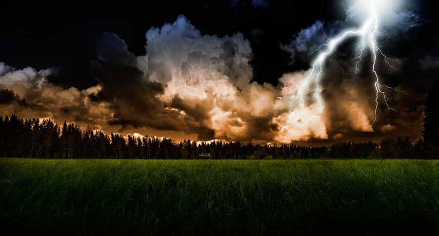 10. Stormy evening