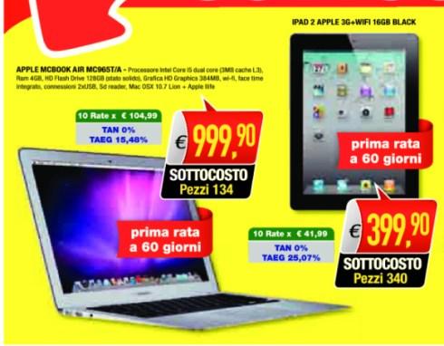 Sconti fino a oltre 200 euro su prodotti Apple Mobili