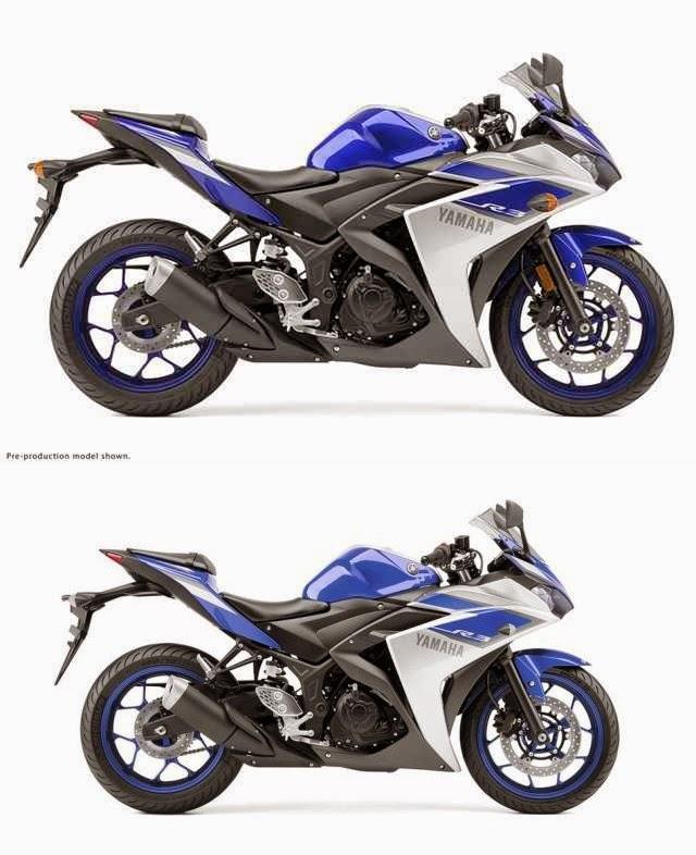 Perbedaan Yamaha YZF R3 Versi Amerika dengan Versi Eropa