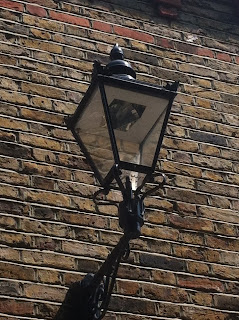 Street lamp on Hansard Mews, London W14