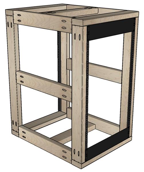 Aff wood diy rack server plans for 2x4 kitchen cabinets