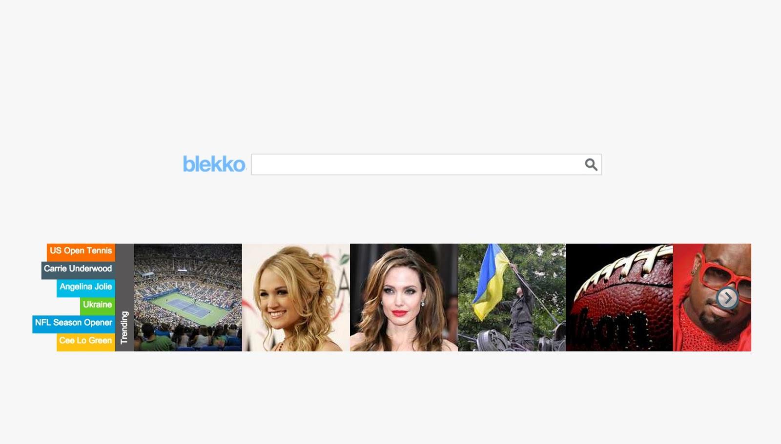 Blekko home page