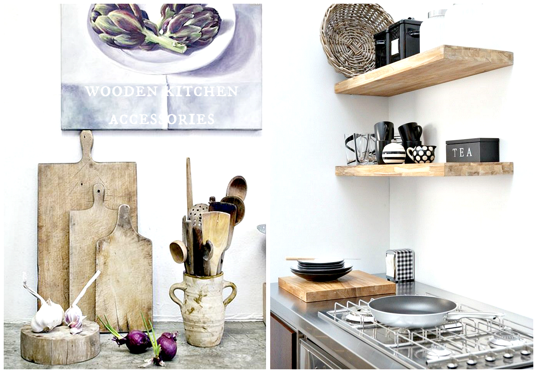 wooden detals kitchen
