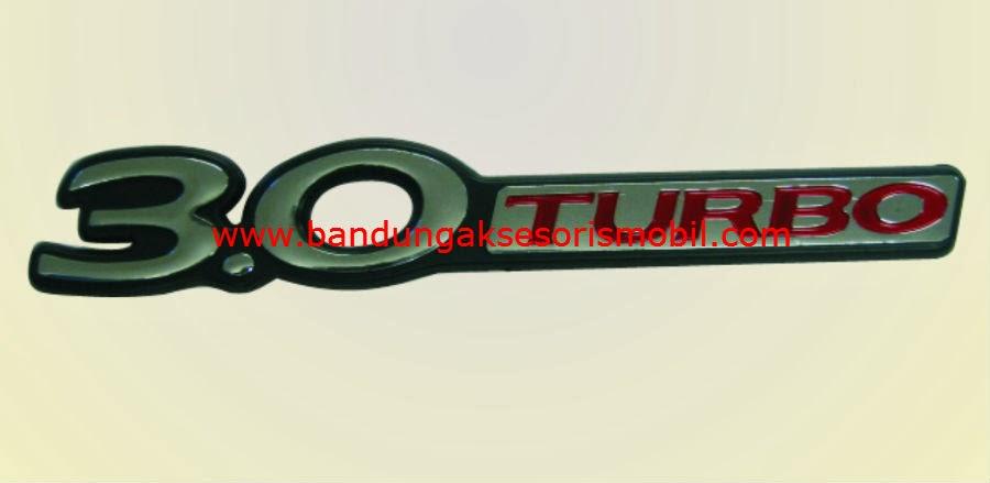 Emblem Car Logo 3.0 Turbo