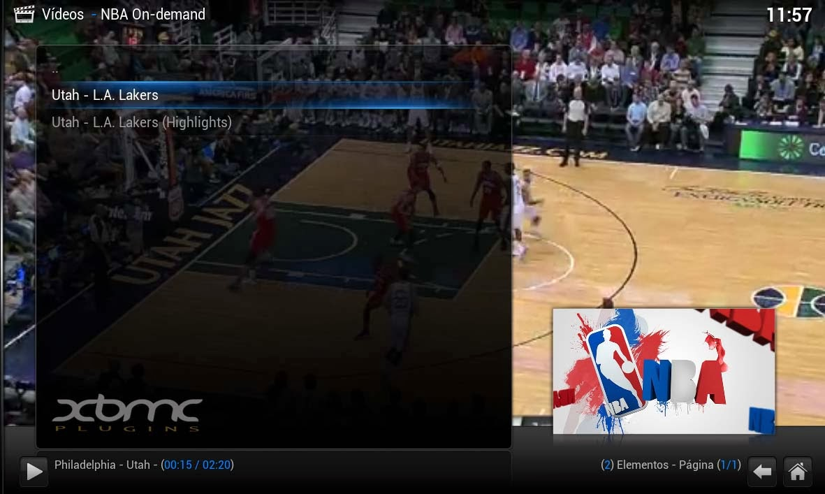 XBMC NBA ON DEMAND