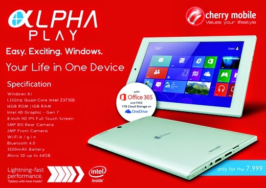 Cherry Mobile Alpha Play Revealed, Windows 8.1 Tablet for P7,999