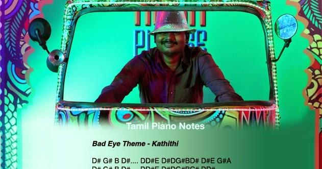 Tamil Piano Notes: Kaththi - Bad Eyes Villan Theme