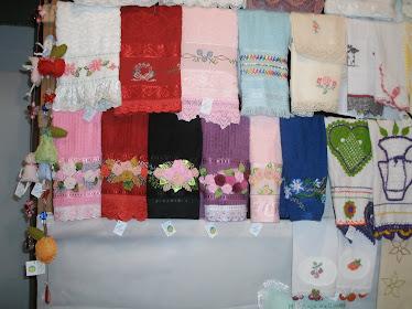 toalhas de rosto bordadas