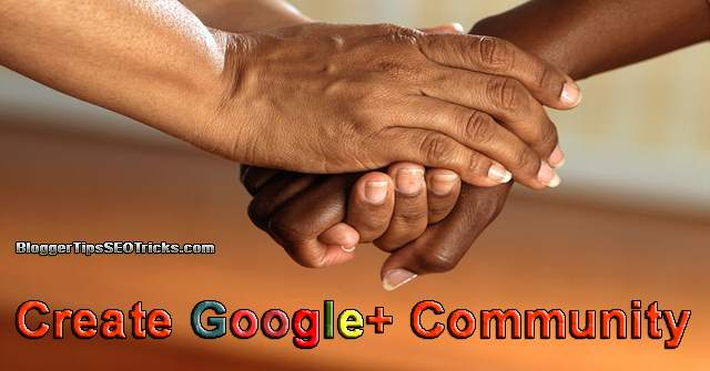 how to create a google plus community