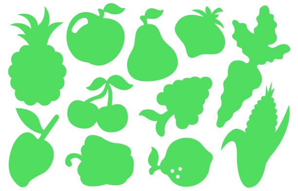 Moldes de vegetales frutas y verduras para hacer imanes - Plumas para decorar ...