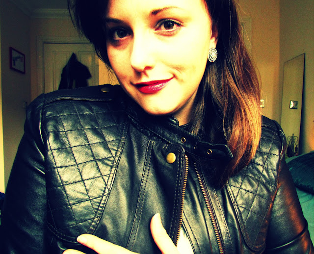 Quilted leather jacket purchased in the January sales from ASOS