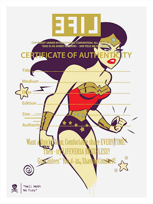 """Hell Hath No Fury"" Wonder Woman Screen Print by LifeVersa"