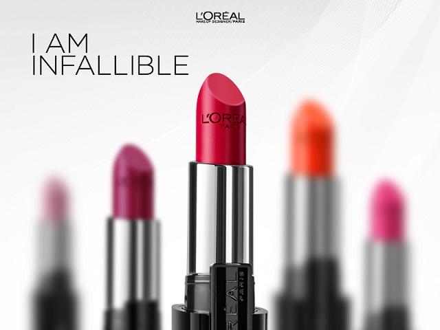 L'Oréal Paris introduces the New Infallible Lipsticks Range