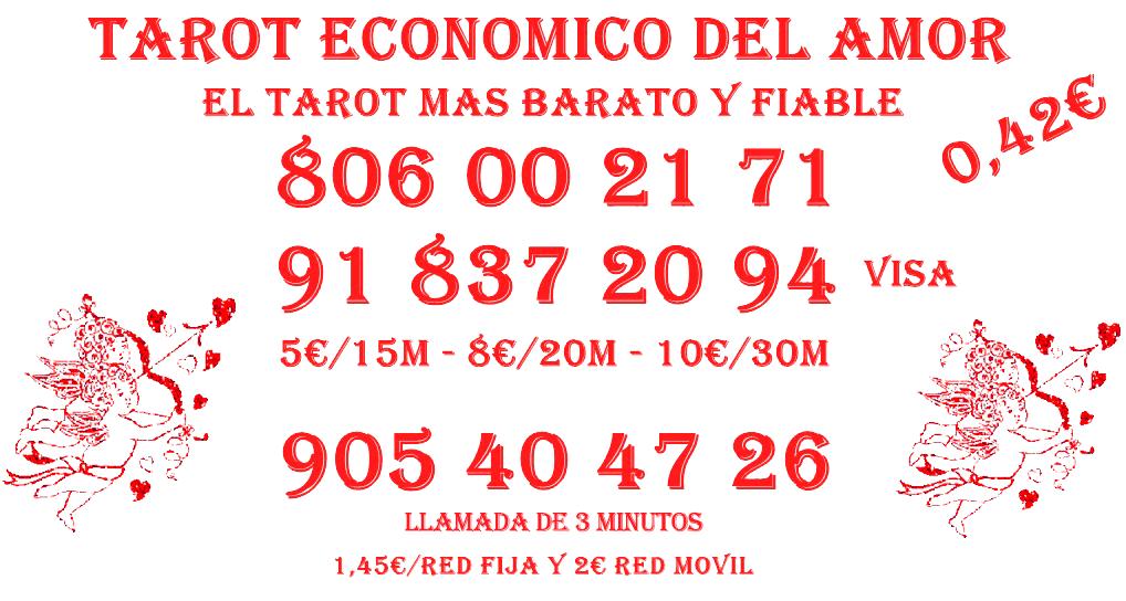 Tarot Económico Fiable 5€/15M Barato Visa