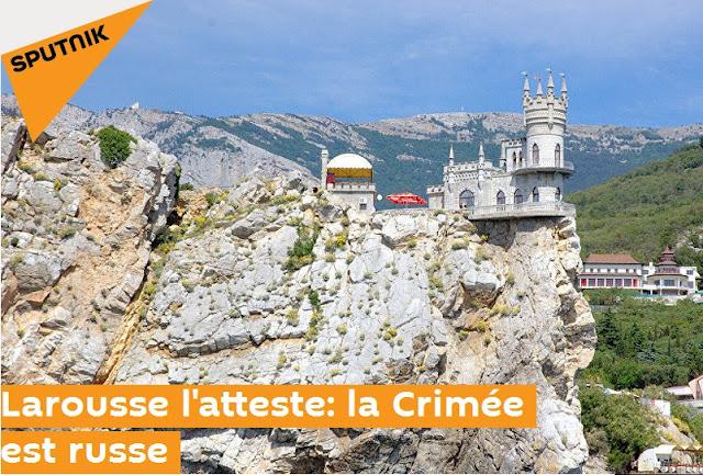 Larousse l'atteste : la Crimée est russe