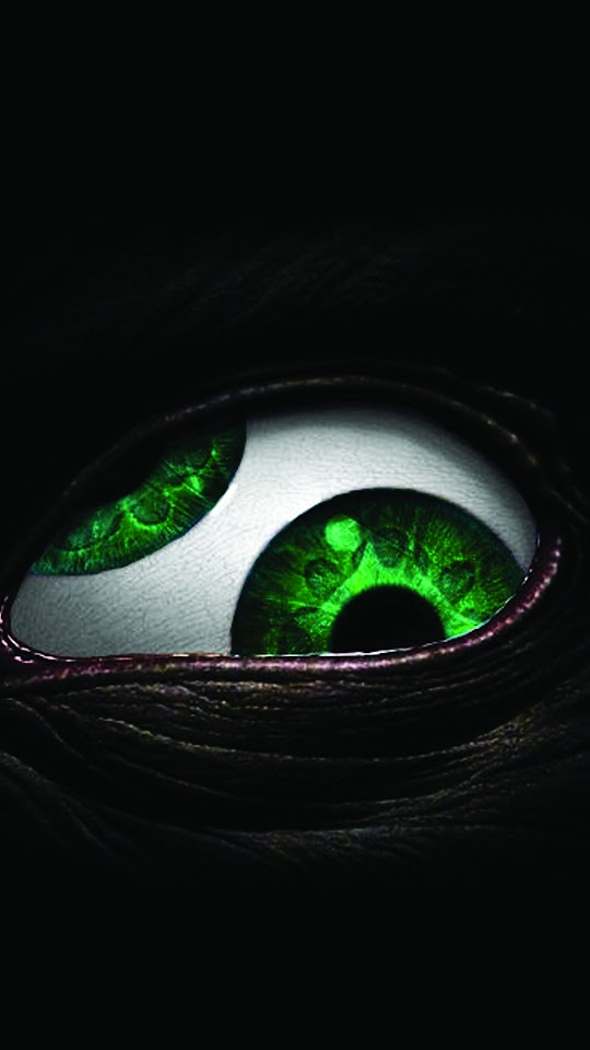 Scary Green Black Eye  Galaxy Note HD Wallpaper