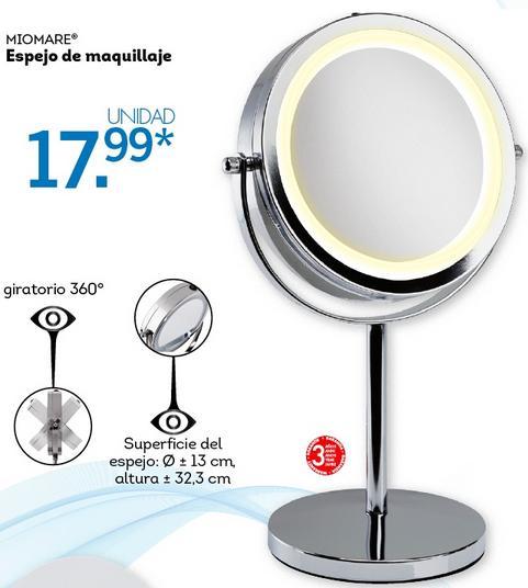 Lidl catalogo espejo de maquillaje for Espejo envejecido precio