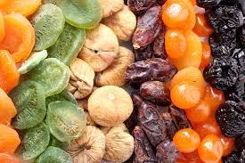 Η θρεπτική αξία των αποξηραμένων φρούτων